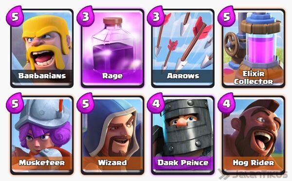 Battle Deck Dark Prince Clash Royale 22