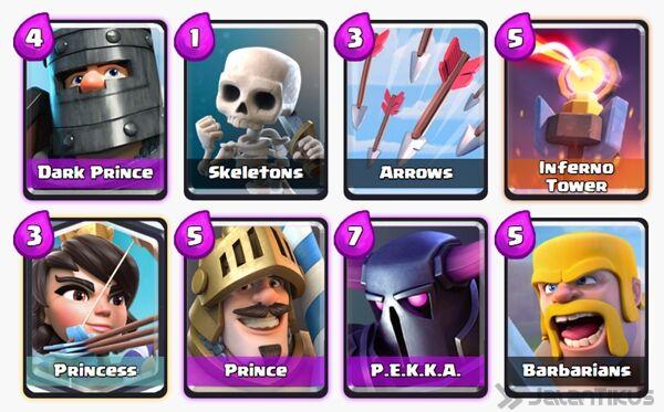 Battle Deck Dark Prince Clash Royale 4