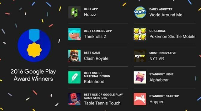 10 Aplikasi dan Gim Terbaik di Google Play 2016