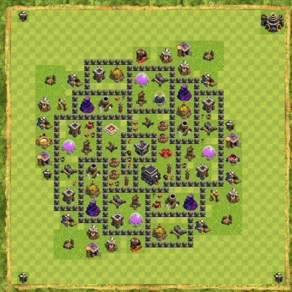 Base Defense Coc Th 9 Terbaru 13