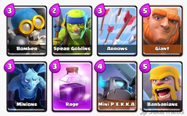 Battle Deck Mini Pekka Clash Royale 2