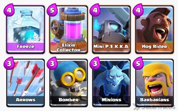 Battle Deck Mini Pekka Clash Royale 6