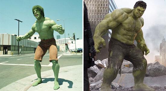 Superhero Dulu Vs Sekarang Hulk
