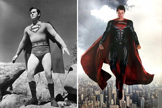 Superhero Dulu Vs Sekarang Superman