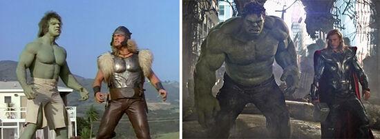 Superhero Dulu Vs Sekarang Wonder Hulk And Thor