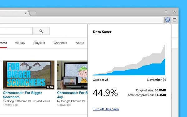 Data Saver Screen