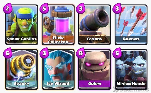 Battle Deck Ice Wizard Clash Royale 1