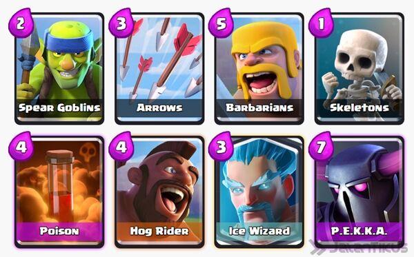 Battle Deck Ice Wizard Clash Royale 10