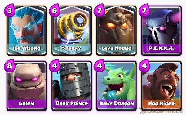Battle Deck Ice Wizard Clash Royale 19