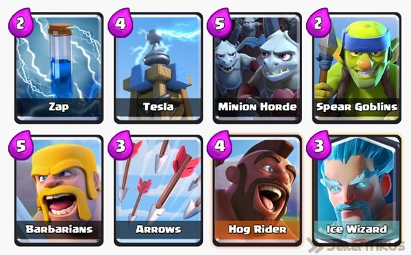 Battle Deck Ice Wizard Clash Royale 21
