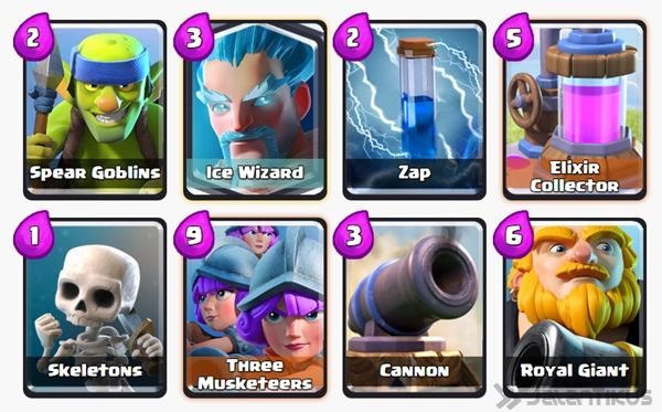 Battle Deck Ice Wizard Clash Royale 26