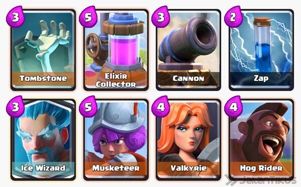 Battle Deck Ice Wizard Clash Royale 4