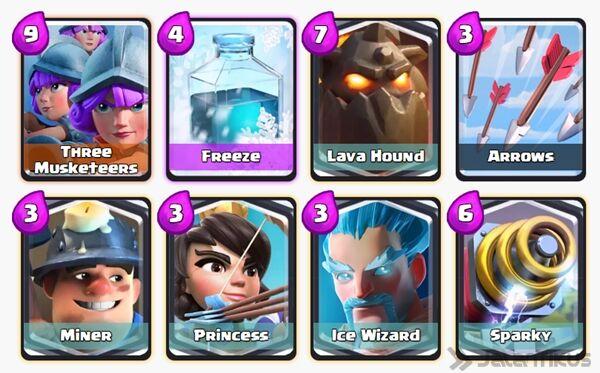 Battle Deck Princess Clash Royale 13