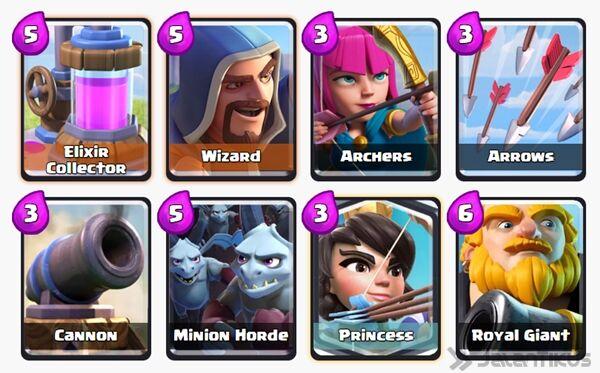 Battle Deck Princess Clash Royale 25