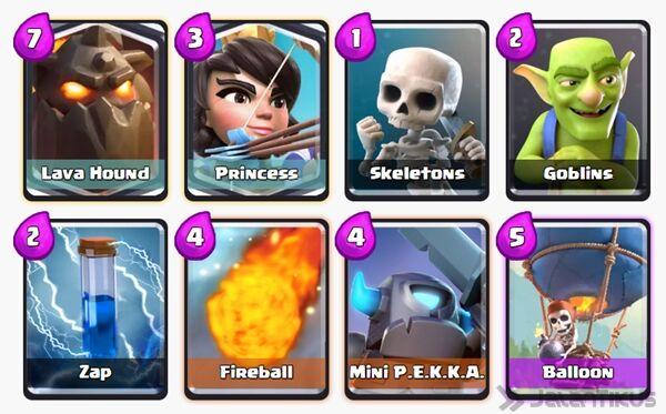 Battle Deck Princess Clash Royale 27
