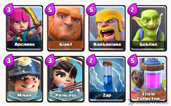 Battle Deck Princess Clash Royale 5