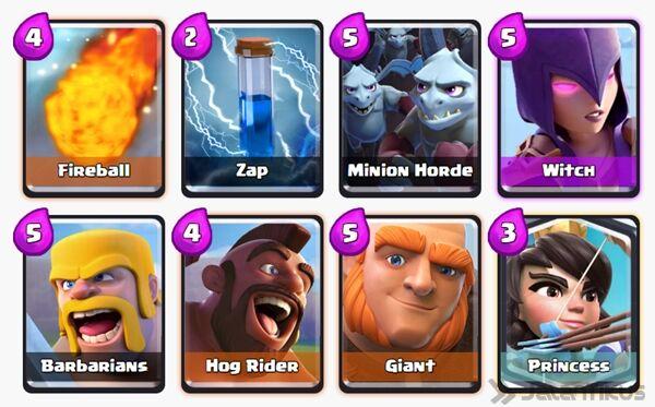 Battle Deck Princess Clash Royale 7