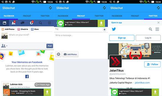 Cara Buka Facebook Dan Twitter Dalam Satu Aplikasi