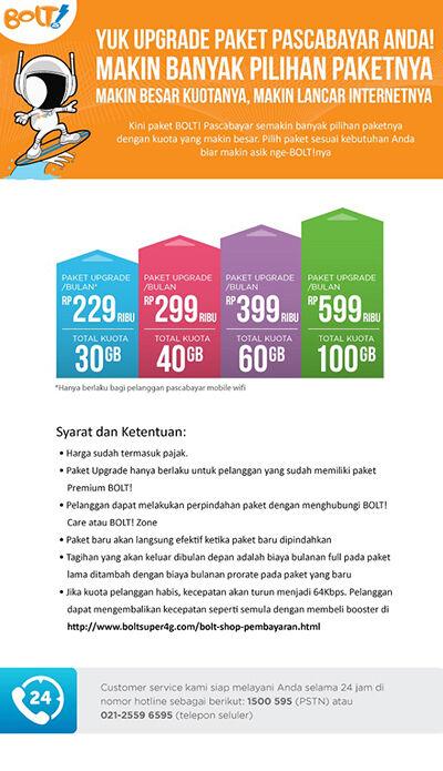 daftar paket internet 4G paling murah bolt 10