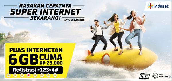 daftar paket internet 4g paling murah indosat 3
