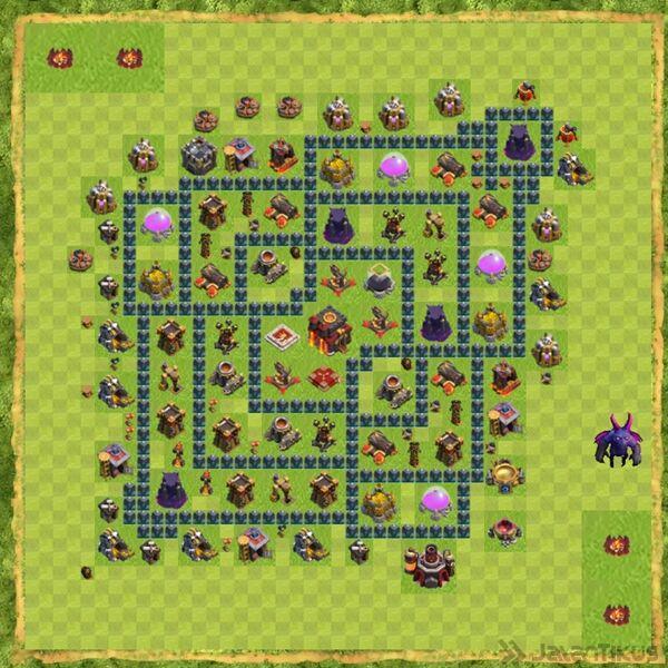 Base Defense Coc Th 10 Terbaru 14