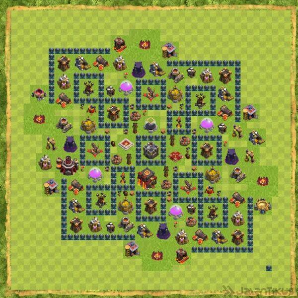 Kumpulan formasi base town hall 10 clan war clash of clans terbaik