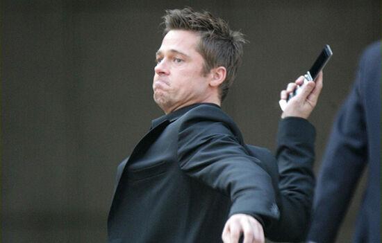 Brad Pitt Loves To Monitor His Phones Battery