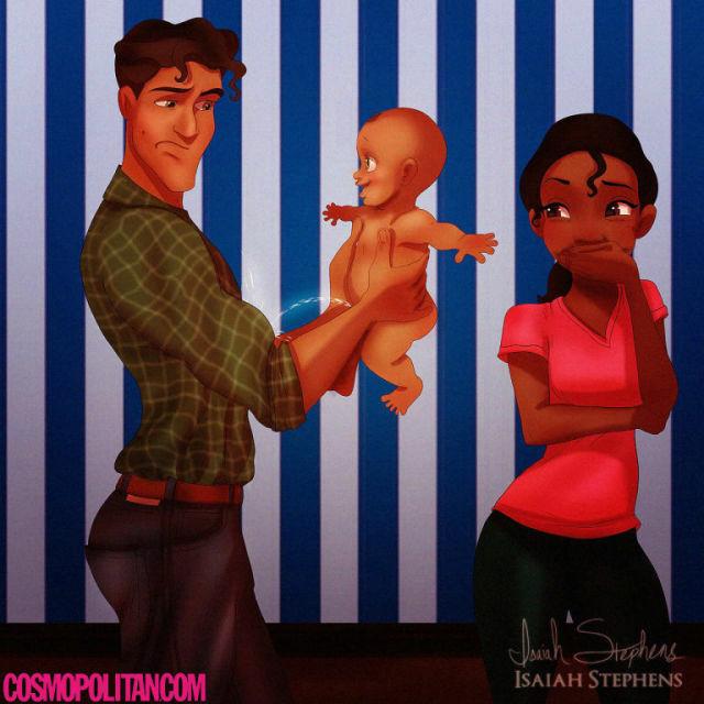 Ilustrasi Karakter Disney Saat Punya Anak 4