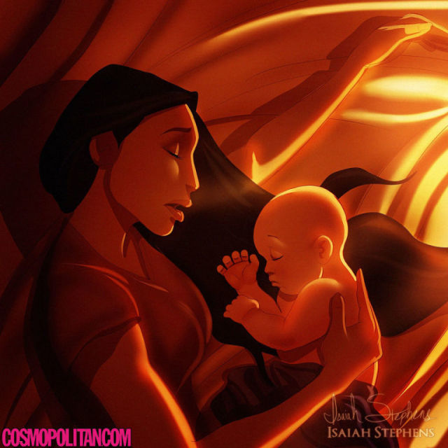Ilustrasi Karakter Disney Saat Punya Anak 7