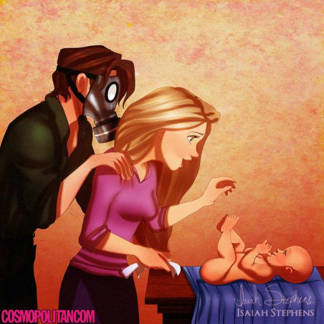 Ilustrasi Karakter Disney Saat Punya Anak 8