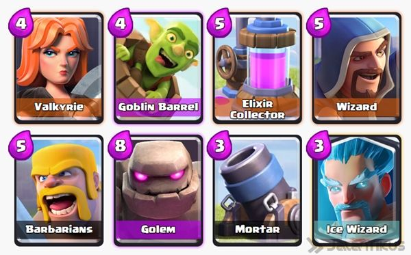 Kombinasi Battle Deck Valkyrie Terbaik Di Clash Royale