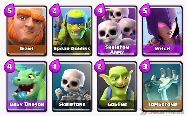 Battle Deck Skeleton Army Clash Royale 20