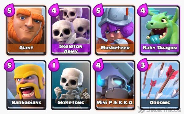Battle Deck Skeleton Army Clash Royale 4