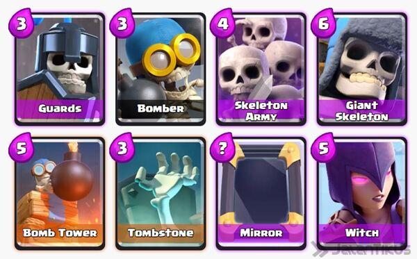 Battle Deck Skeleton Army Clash Royale 9