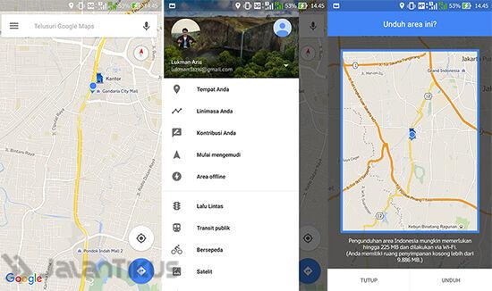 Download peta offline Google Maps