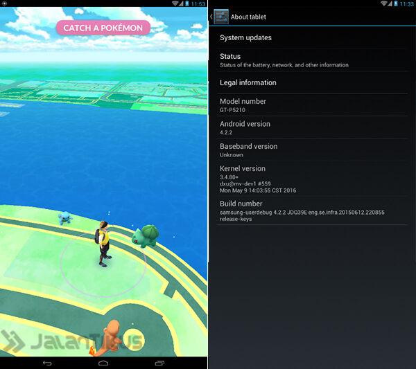 ... angka: Begini Cara Download dan Main Pokemon GO di Android Jelly Bean