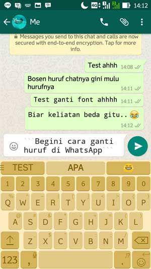 Trik merubah font di Whatsapp iOS dan Android dengan mudah
