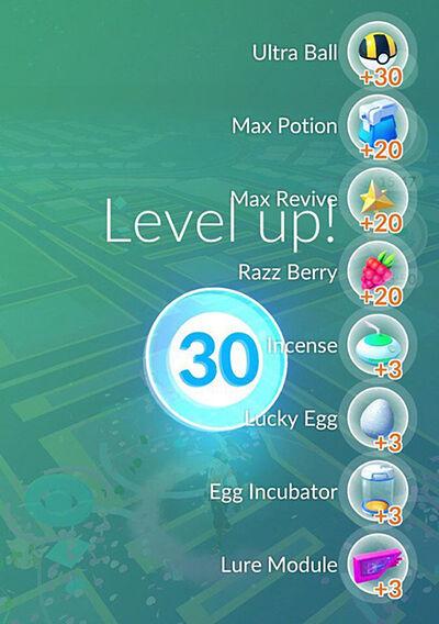 level 30 di Pokemon GO