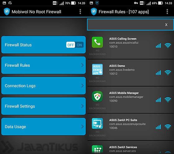 Mobiwol Noroot Firewall