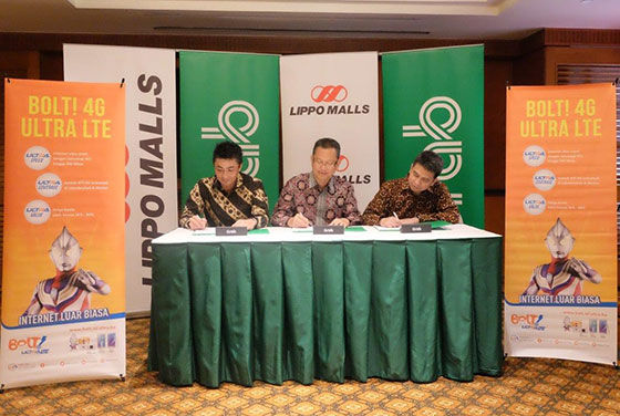 Grab Lippo Malls Bolt Partnership Signing 1