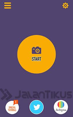 Buka Aplikasi Clone Camera, klik Start