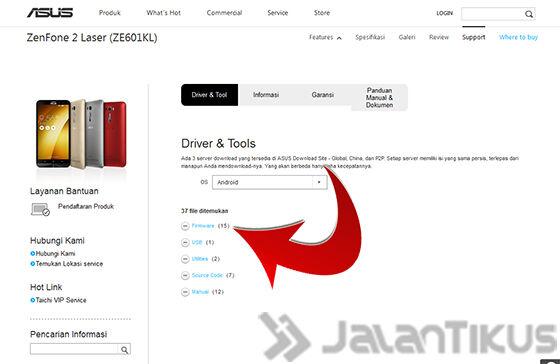 Cara Update Manual Zenfone 2