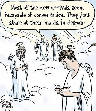 Ilustrasi Menyedihkan Dampak Smartphone 13