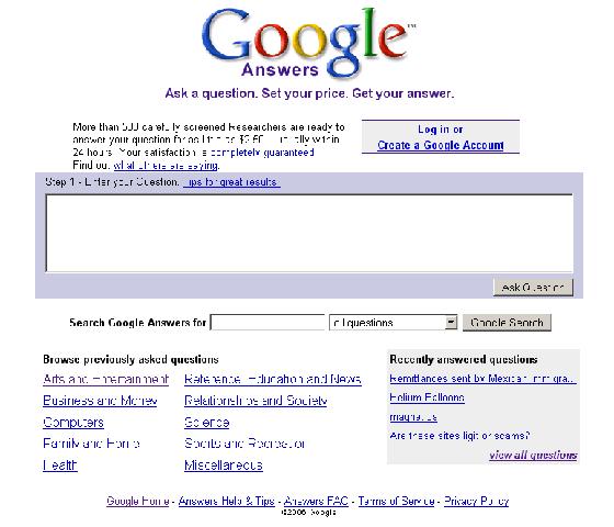 Produk Gagal Google Answer