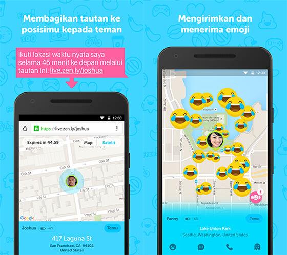Zenly Aplikasi Android untuk Melacak Keberadaan Seseorang