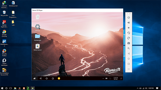 tampilan remix os player