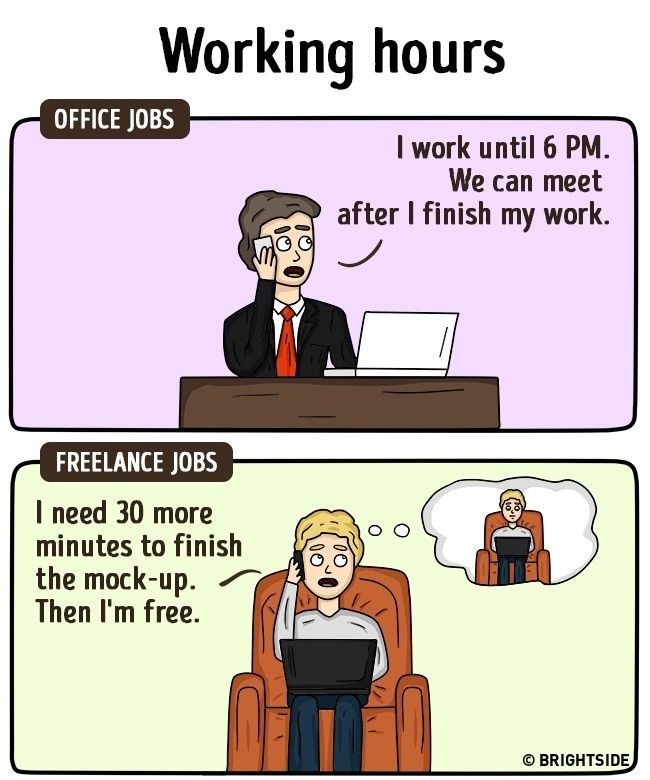 Perbedaan Freelance Dan Pekerja Kantoran 10