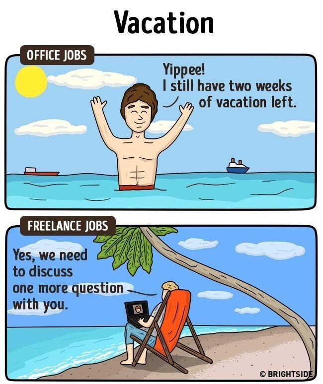 Perbedaan Freelance Dan Pekerja Kantoran 11