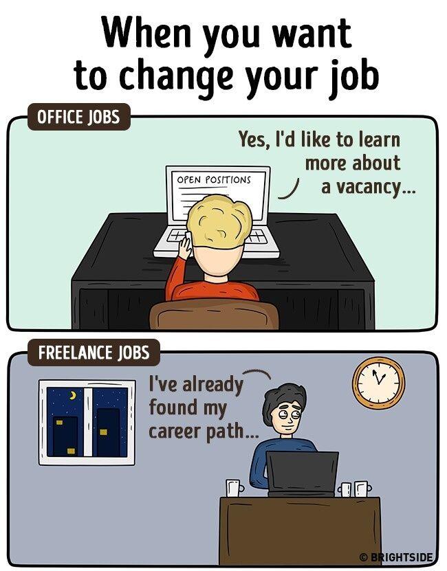 Perbedaan Freelance Dan Pekerja Kantoran 15