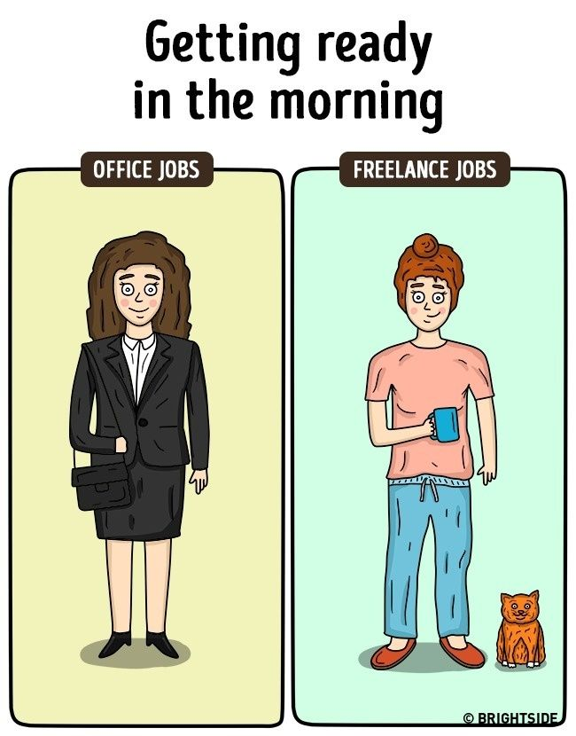 Perbedaan Freelance Dan Pekerja Kantoran 2